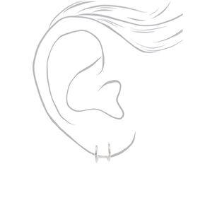 Sterling Silver Double Hoop Earrings,