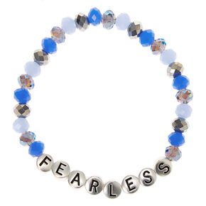 Fearless Beaded Stretch Bracelet - Blue,