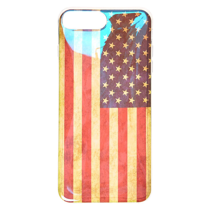 Holographic Distress American Flag Phone Case,