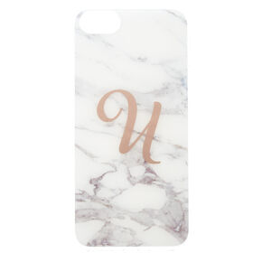 "Marbled ""U"" Initial Phone Case,"