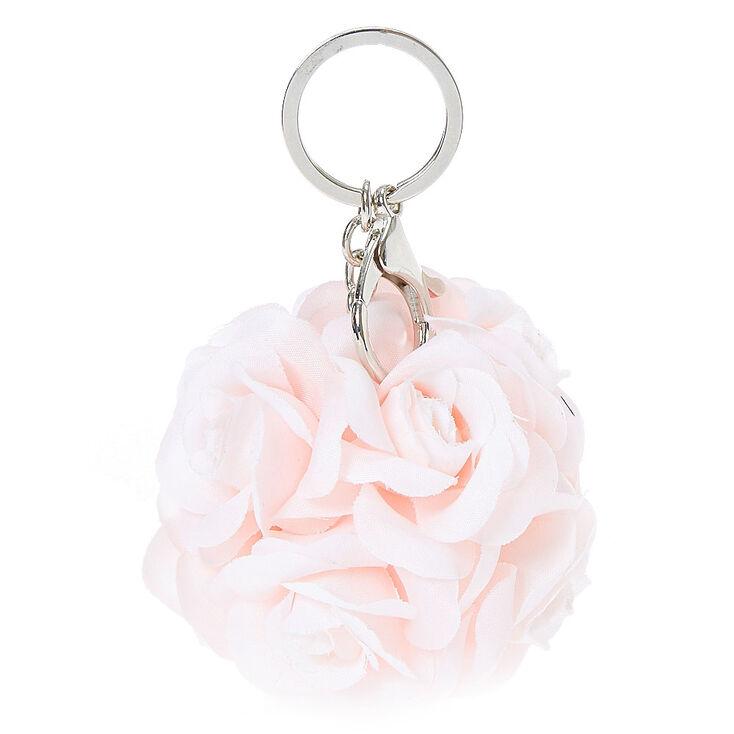 Pink Rose Ball Bouquet Keychain,