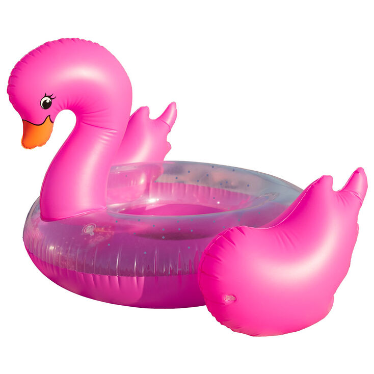 Large Pink Swan Pool Float,