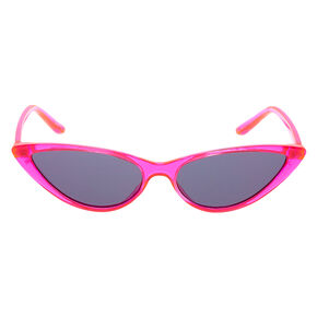 Neon Cat Eye Sunglasses - Pink,