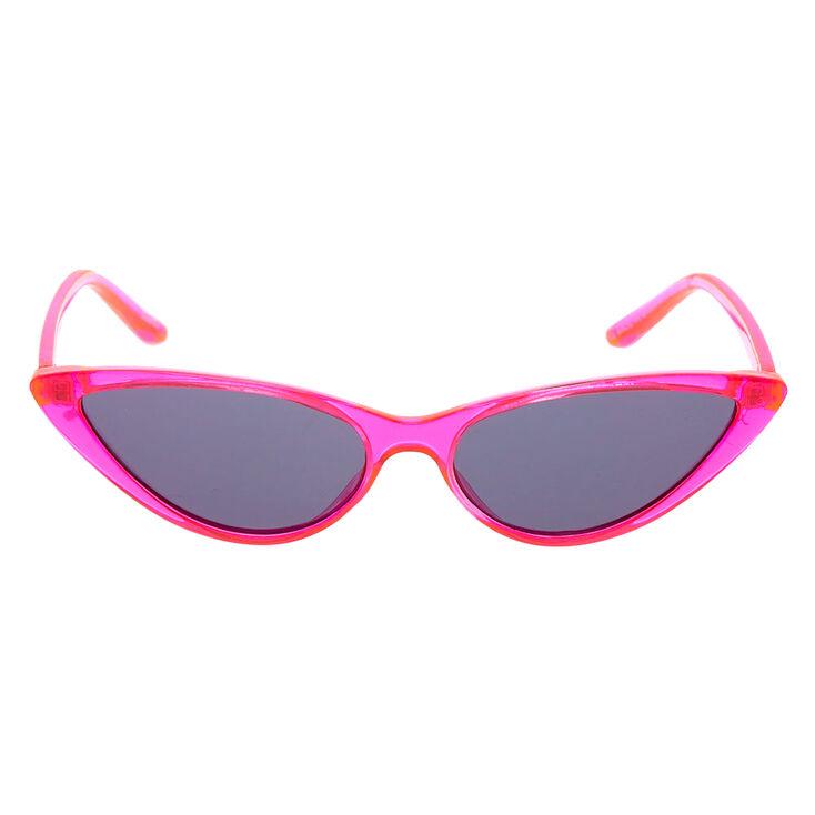Neon Cat Eye Sunglasses - Pink,