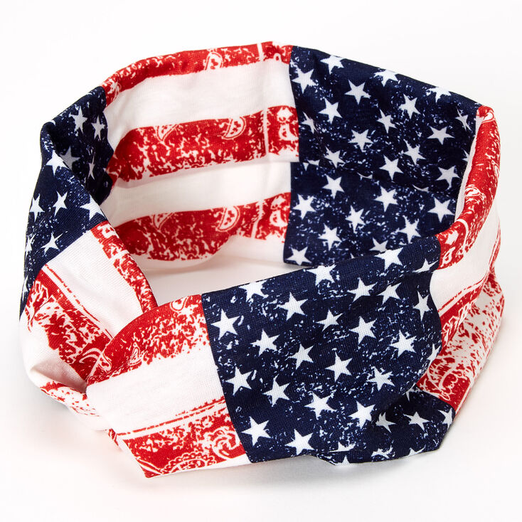 American Flag Bandana Twisted Headwrap,