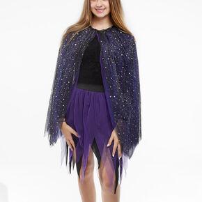Celestial Glitter Cape - Purple,