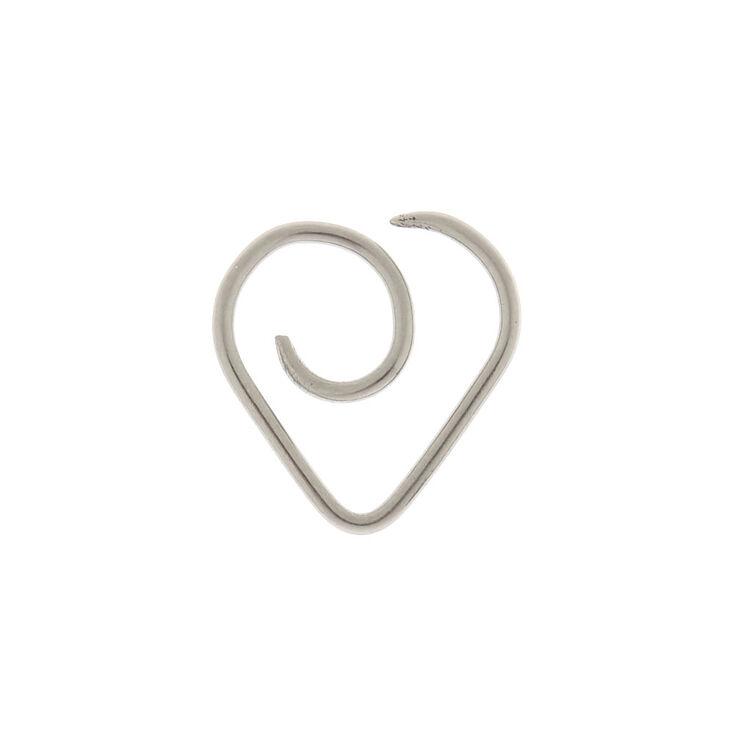 Titanium Silver 18G Heart Cartilage Hoop Earring,