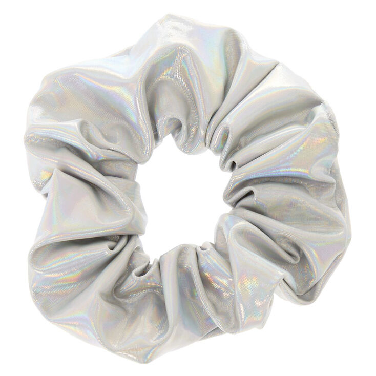 Holographic Hair Scrunchie - Silver,
