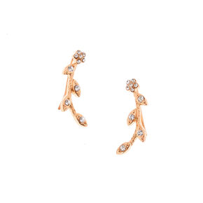Rose Gold-Tone Vine Ear Crawlers,