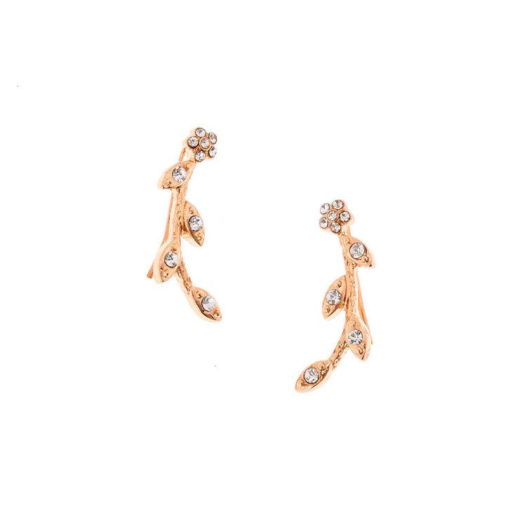 Rose Gold-Tone Vine Ear Crawlers,