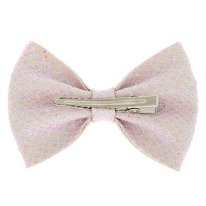 Mermaid Shine Hair Bow Clip - White,