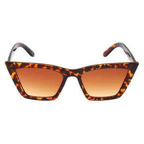 Tortoiseshell Rectangular Cat Eye Sunglasses,