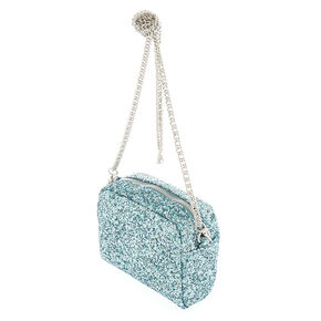 Mini Glitter Crossbody Bag - Aqua,