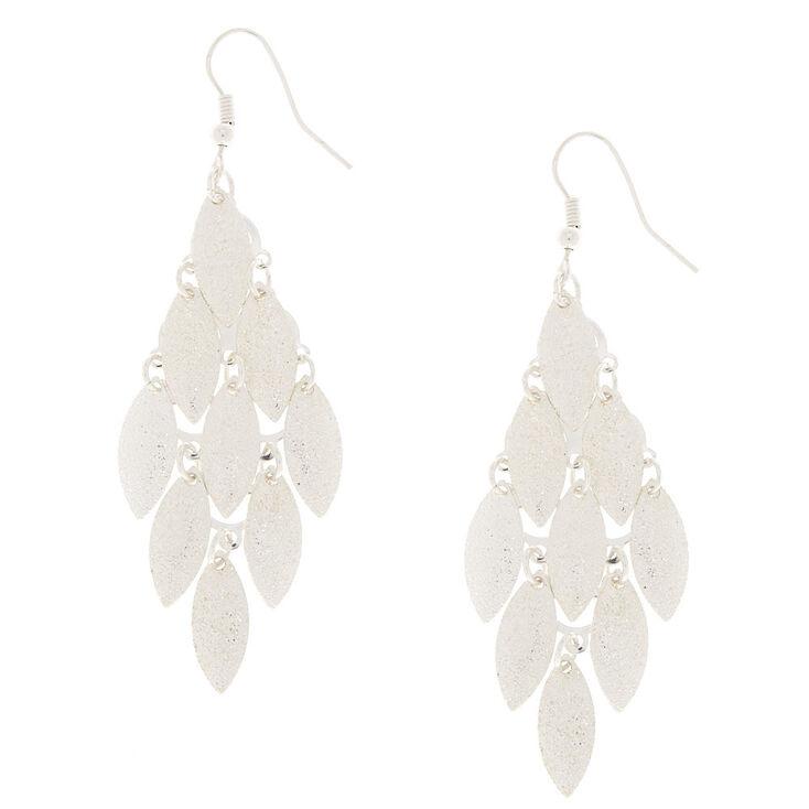 Silver Layered Drop Earrings,