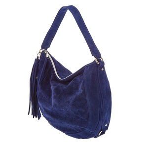Blue Hobo Messenger Bag,