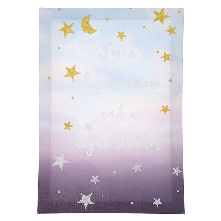 Daydreamer Wall Canvas - Purple,