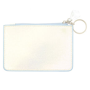 Pearlescent Initial Coin Purse - I,