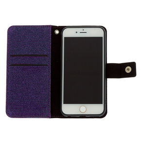 Glitter Folio Phone Case - Purple,