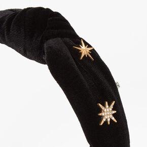 Ribbed Celestial Knotted Headband - Black,