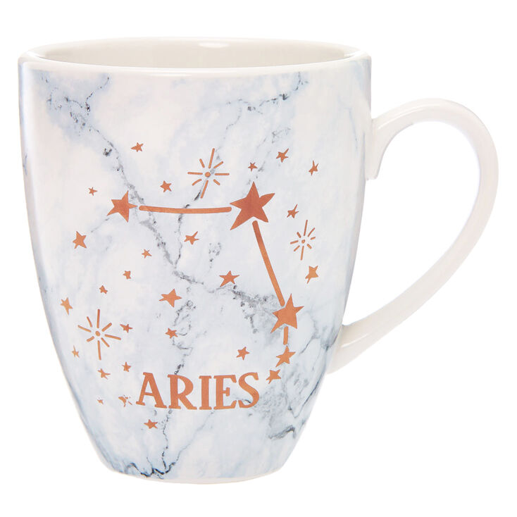 Ceramic Marble Zodiac Mug - Aries,