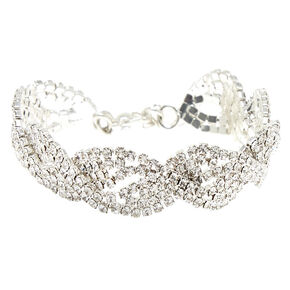 Silver Twist Statement Bracelet,
