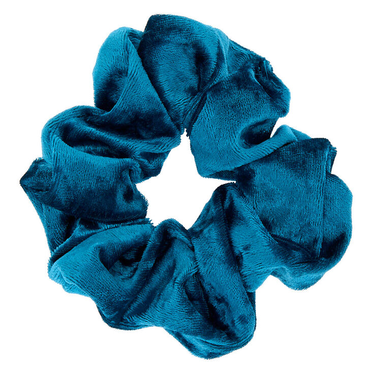 Medium Velvet Hair Scrunchie - Teal,