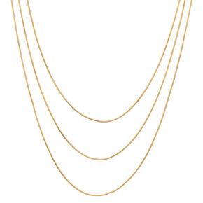 Gold Cord Multi Strand Necklace,