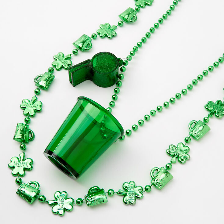 St. Patrick's Day Whistle Beads - Green,