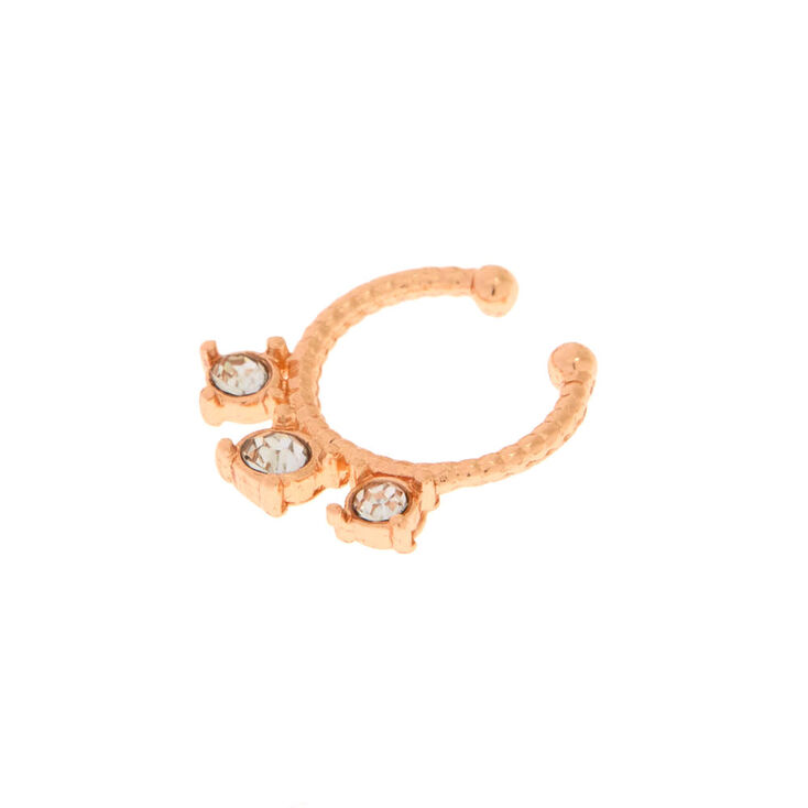 Rose Gold Crystal Stone Cartilage Earring,