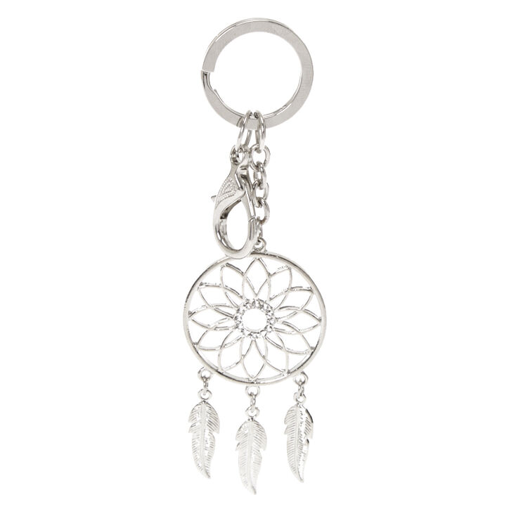 Silver-Tone Dream Catcher Keychain,