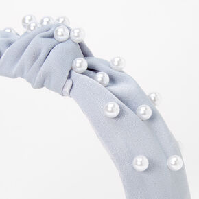 Pearl Knotted Headband - Periwinkle,
