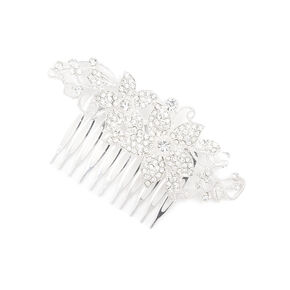Pavé Crystal Flowers & Vines Hair Comb,