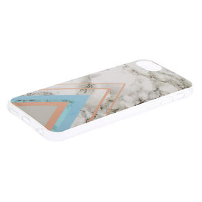 Geometric Marbled Phone Case - Fits iPhone 6/7/8,