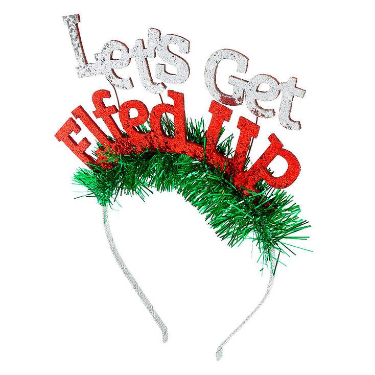 Let's Get Elfed Up Tinsel Headband,