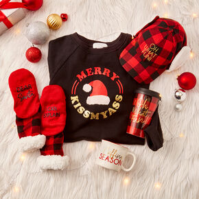 Red and Black Plaid Holiday Cozy Set,