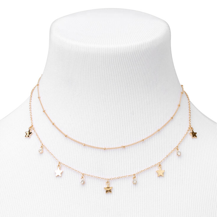 Gold Embellished Star Jewelry Set - 2 Pack,