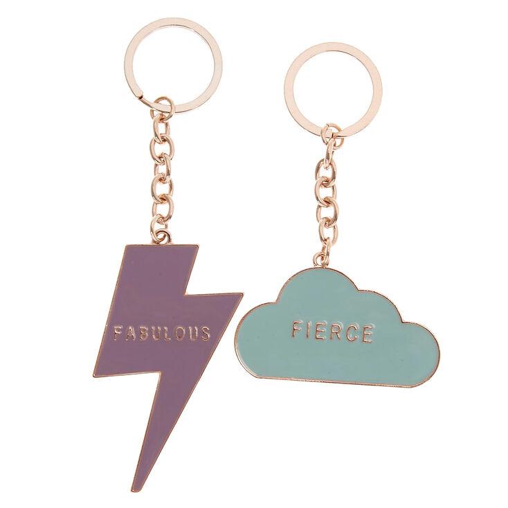 Best Friends Fabulous + Fierce Keychains - 2 Pack,