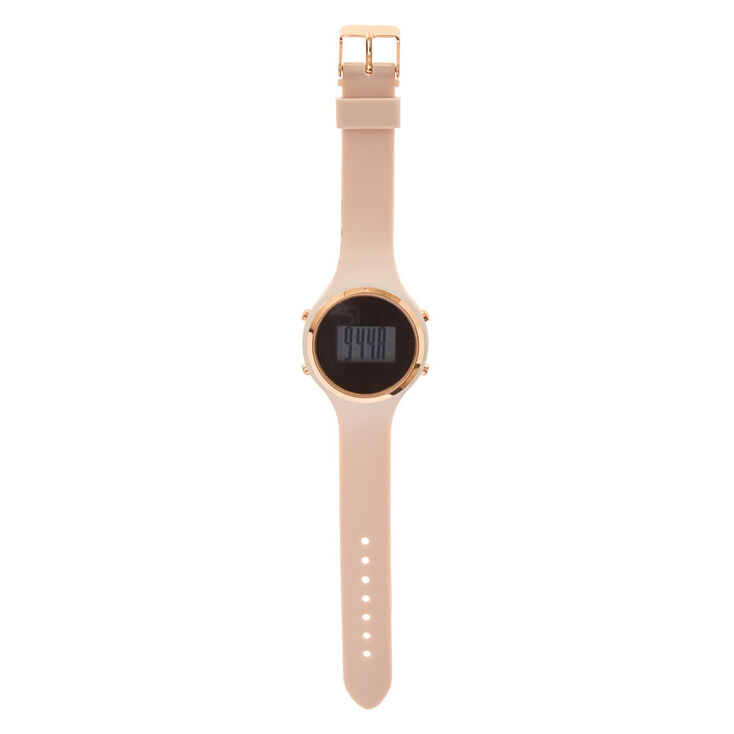 Mauve Silicone Digital Watch,