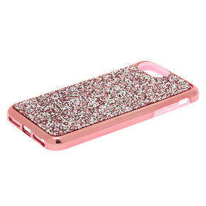 Pink Crushed Stone Protective Phone Case - Fits iPhone 6/7/8 Plus,