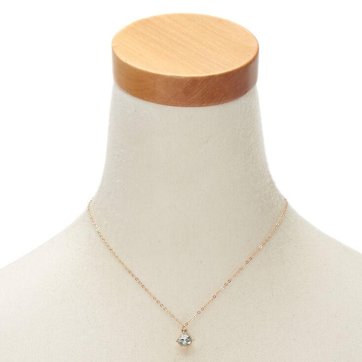 April Birthstone Pendant Necklace - Diamond,