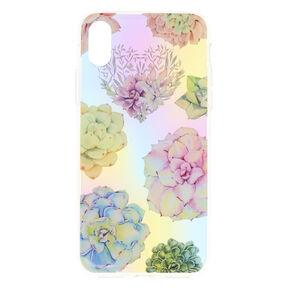 Pastel Succulent Floral Phone Case,