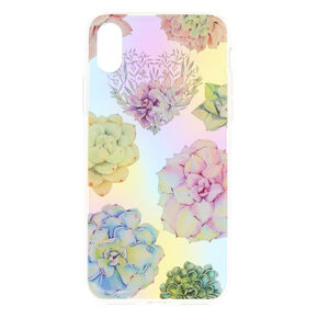 Pastel Succulent Floral Phone Case - Fits iPhone X/XS,