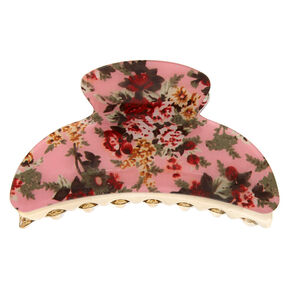 Antique Floral Hair Claw - Pink,