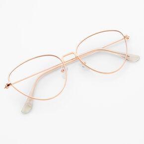 Rose Gold Cat Eye Clear Lens Frames,