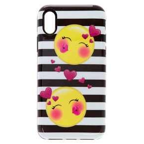 Kiss Face Emoticon Protective Phone Case - Fits iPhone X/XS,