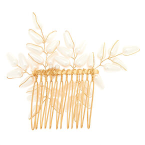 Gold Antique Pearl Hair Comb Gold Antique Pearl Hair Comb,