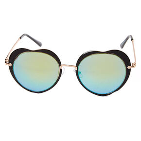 Black Heart Sunglasses with Round Lenses,