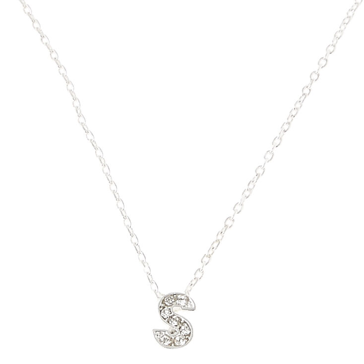 """S"" Pendant Initial Necklace,"