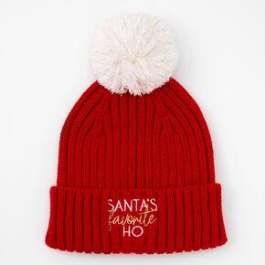 Santa's Favorite Ho Beanie - Red,