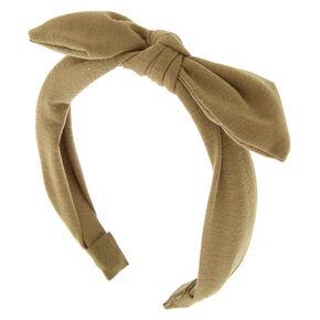 Jersey Solid Bow Headband - Sage Green,